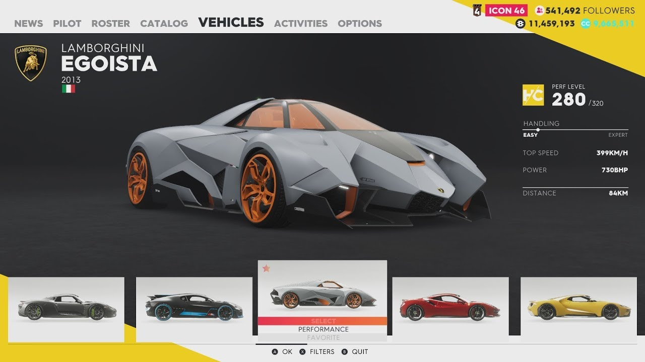 The Crew 2 Hot Shots Bugatti Divo Lamborghini Egoista And