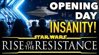 Rise of the Resistance OPENING DAY INSANITY - Disney Vlog