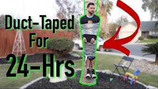 Husband Duct-Taped To Tree for 24 Hours!! | VLOGMAS Day 21