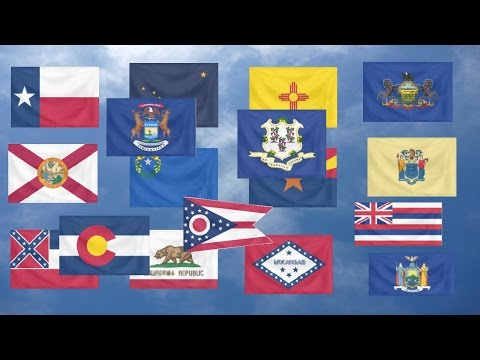Flag Quiz, US States.