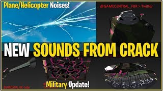 *NEW* Fortnite: HELICOPTER/PLANE SOUNDS COMING FROM CRACK IN SKY! | (Military Props Leaked)
