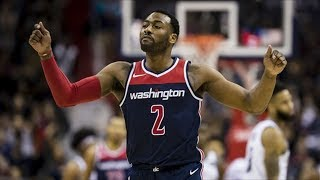 John Wall Scores/Asts on 11 Points in Overtime! Nets vs Wizards 2017-18 Season