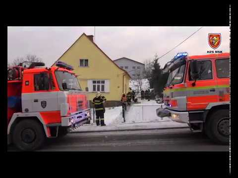 9.1.2017 Požár - saze v komíně, Studénka
