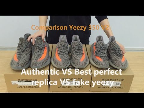 ca8246d09beec Comparison AuthenticYeezy 350 V2 VS Best perfect replica vs fake ...