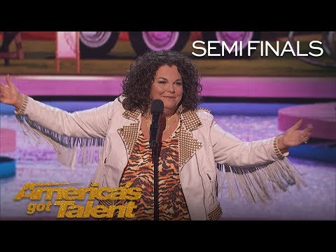 Vicki Barbolak: Comedian Delivers Tips On How To Pick Up Men – America's Got Talent 2018