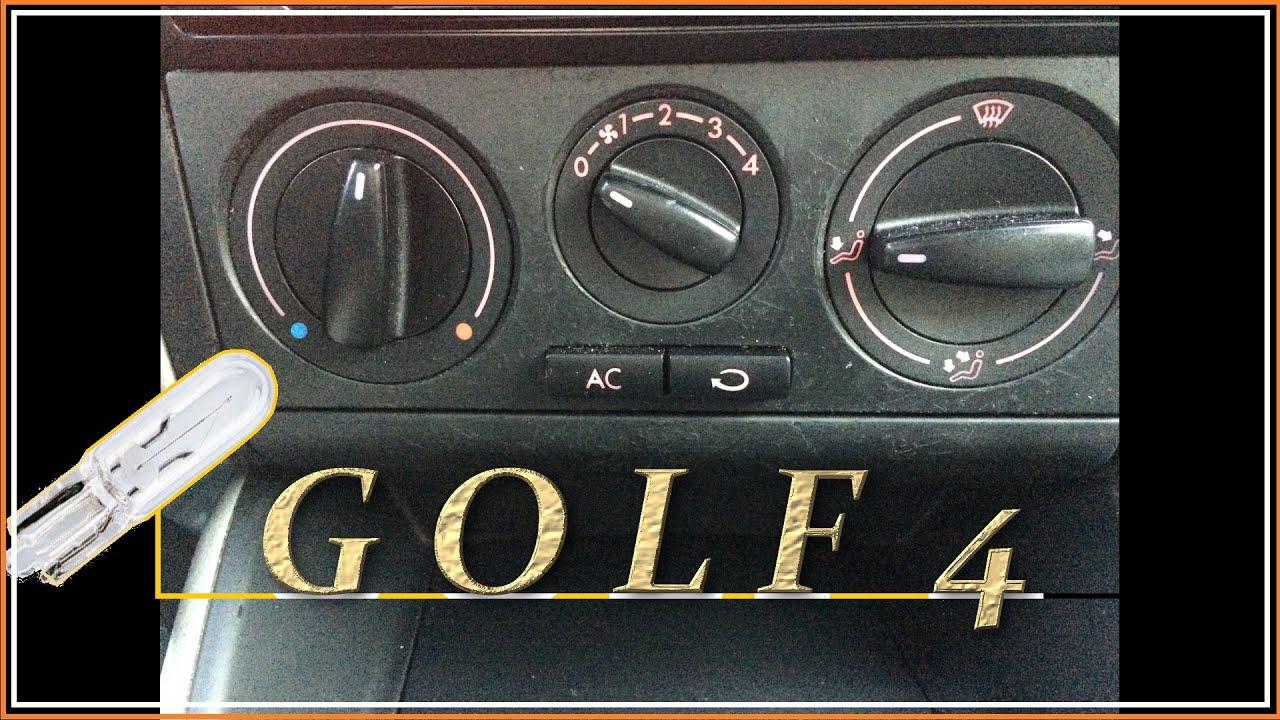 фольксваген гольф 4 подсветка печки
