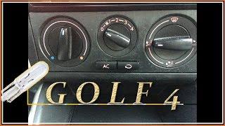Golf  Замена лампы подсветки крутилок отопителя