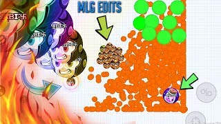 *Agar.io* MOBILE CLEAN 3X POPSPLITS AND LINESPLIT ON MASS PILE // MLG VERSION // DOMINATION