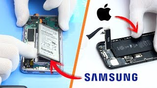 Galaxy S8 vs iPhone 7 - CUAL ES MAS FACIL DE REPARAR?