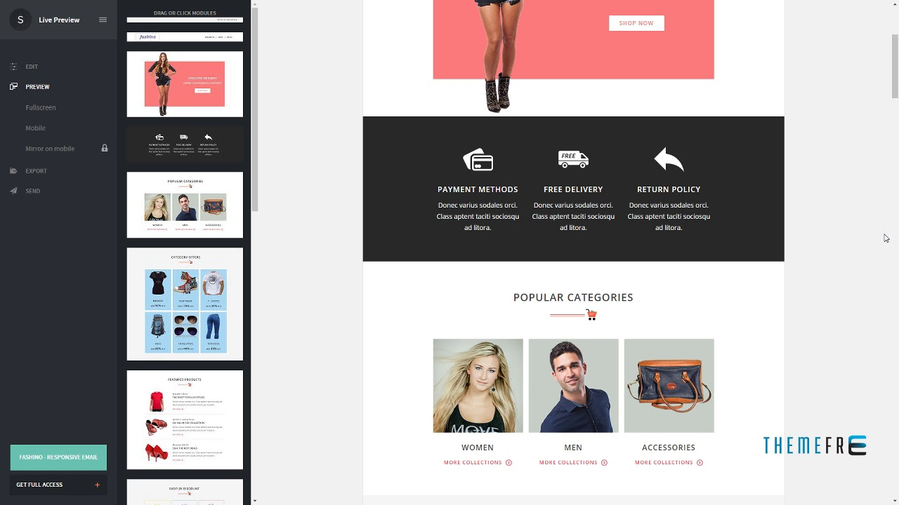 Fashino - Responsive Email Template + Stampready Online Builder ...