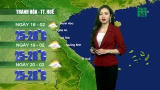 VTC14   Thời tiết cuối ngày 23h 17/02/2018   Từ 18-20/02, phổ biến không mưa, ban ngày trời nắng