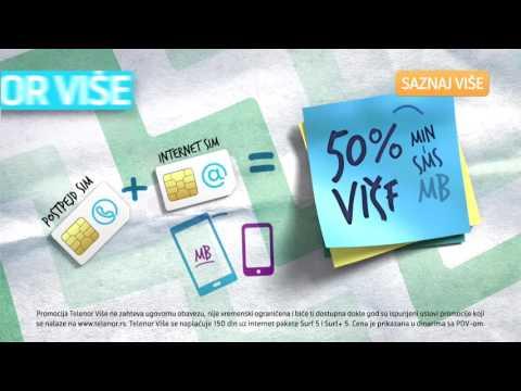 Uživaj u 50% više MIN, SMS i MB uz Telenor više