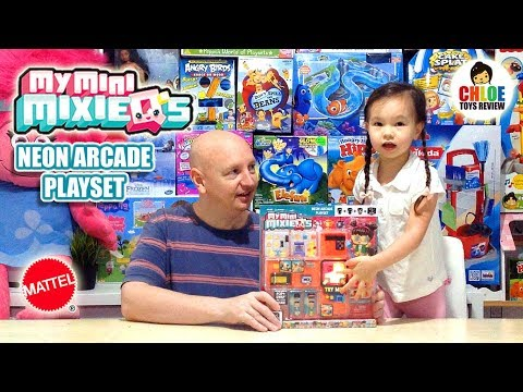 My Mini MixieQ's Neon Arcade Playset by Mattel Unboxing Mixie Q's Mixie Cubes | Chloe Toys Review
