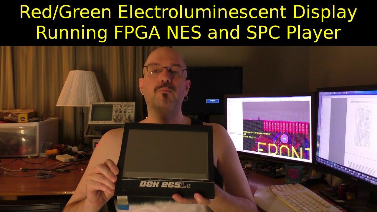 FPGA NES and SPC on a Planar EL Display (EL640.480-aa1).