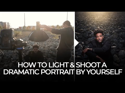 How to Light & Shoot a Dramatic Portrait by Yourself