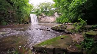 Relaxing sound with nature and waterfall sounds ......