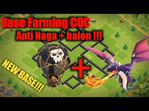 BASE COC TH8 TERKUAT ANTI NAGA+BALON DESIGN FARMING - Clash Of Clans
