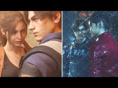 Claire and Leon All Flirting Scenes - Resident Evil 2 Remake 2019