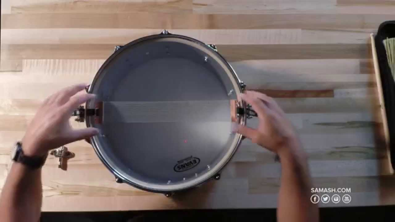 How to Change Snare Wires - Sam Ash Crash Course - YouTube