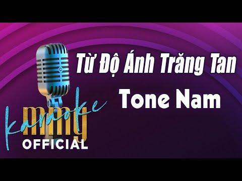 Từ Độ Ánh Trăng Tan (Karaoke Tone Nam) | Hát với MMG Band