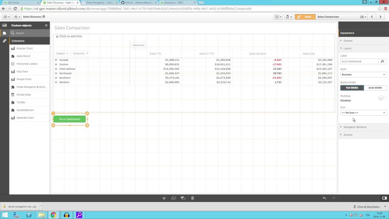 Sheet navigation and actions button in Qlik Sense - Qlik Tuesday ...