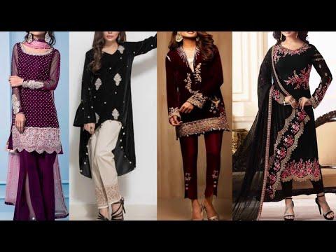 New Party Wear Velvet Salwar Kameez Design || Fancy Velvet Dress Design
