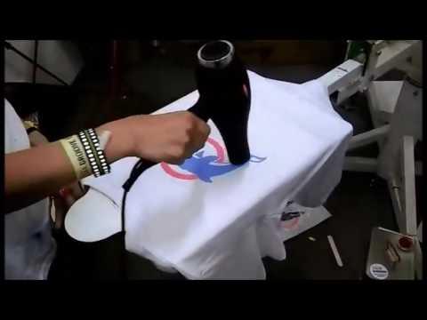 8915669e0498 Potlač textilu - sieťotlač - YouTube