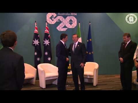 Matteo Renzi al G20 di Brisbane