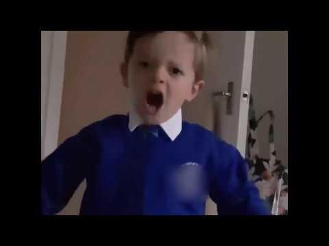 naughty kid said he will uppercut santa