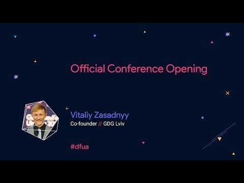 Official Conference Opening – Vitaliy Zasadnyy