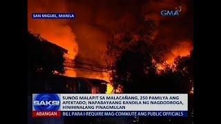 Saksi: Sunog malapit sa Malacañang, 250 pamilya ang apektado