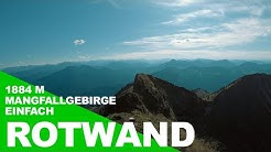 Rotwand (1884 m) über den Pfannengraben, Mangfallgebirge