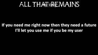 All That Remains - Nothing I Can Do (Lyrics) Mp3