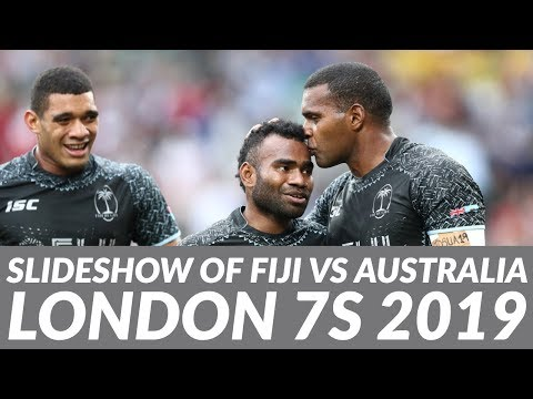 Slideshow highlights (photos only) of London 7s 2019 Fiji vs Australia finals & Fiji vs Ireland