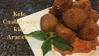 Cauliflower Rice Arancini Balls Keto Low Carb