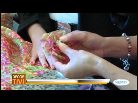Cách làm hoa vải.