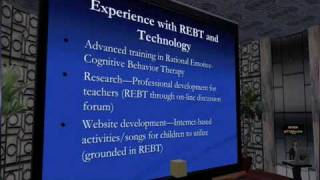 Second Life as a tool in Rational Emotive Behavior Therapy (REBT) - Jeffrey Warren