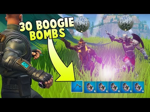 We Used 30 BOOGIE BOMBS On One Guy - Fortnite World Record