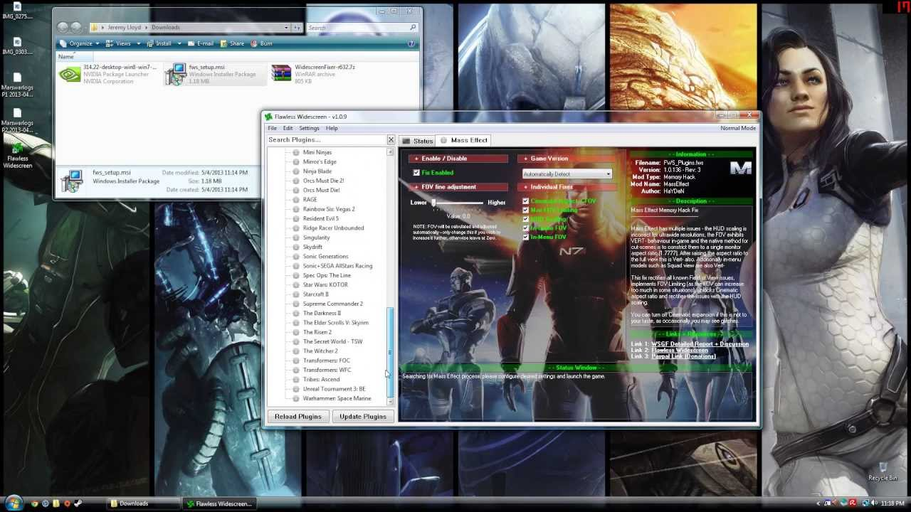pc how to use 3 monitors with unsupported games flawless widescreen
