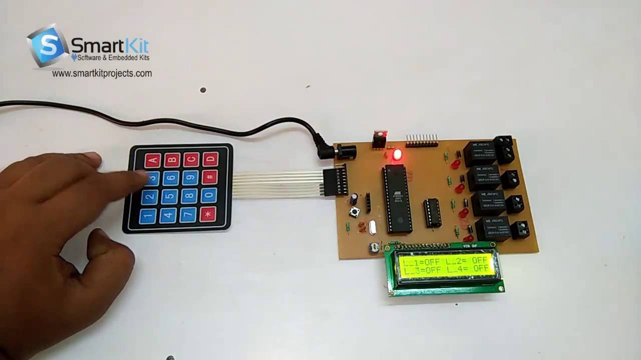 Password Based Load Control System Using 8051 Microcontroller Dtmf Circuit Diagram