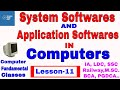 System softwares and Application softwares in Computer | CLASS 11