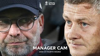Ole v Klopp | Battle of Old Trafford | Manager Cam | Manchester Utd 3-2 Liverpool | Fourth Round