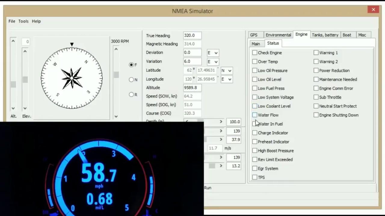 NMEA-2000 Simulation Software Demo 1