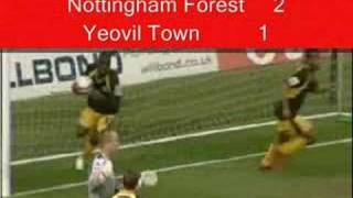 Nottingham forest vs Yeovil goals highlights and celebration