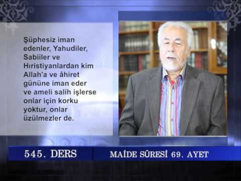 545 TEFSIR GUNLUGU MAHMUT TOPTAŞ MAİDE SURESİ AYET 66-73