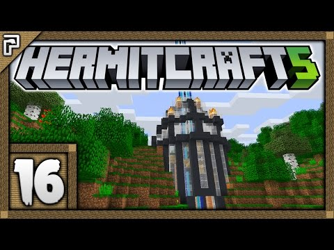 🐚 Hermitcraft 5 | Let's Play Minecraft Survival | The Surface Entrance Of The Grand Base! [#16]