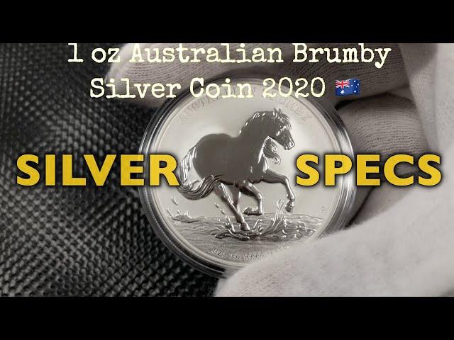 SILVER SPECS  1 oz Australian Brumby Silver Coin 2020