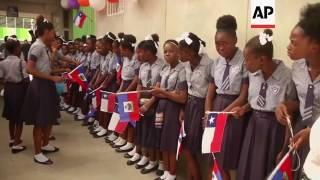 President of Chile visits Haiti