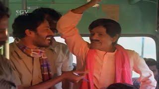 Musuri Krishnamurthy taking bus ticket comedy scenes | Dinesh | Giri Bale Kannada Movie