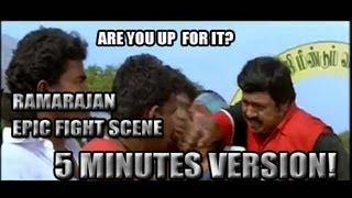 Ramarajan Epic Matrix Fight Scene Challenge - 5 Minutes Version!